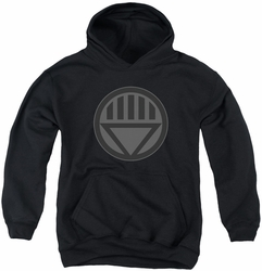 Green Lantern youth teen hoodie Black Symbol black