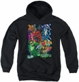 Green Lantern youth teen hoodie Blackest Group black