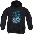 Green Lantern youth teen hoodie Blackhand black