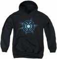 Green Lantern youth teen hoodie Blue Glow black