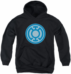 Green Lantern youth teen hoodie Blue Symbol black