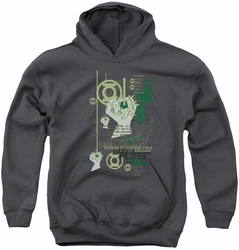 Green Lantern youth teen hoodie Core Strength charcoal