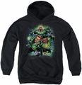 Green Lantern youth teen hoodie Corps #1 black