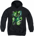 Green Lantern youth teen hoodie Earth Sector black