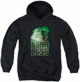 Green Lantern youth teen hoodie Fearless black