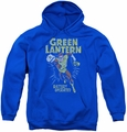 Green Lantern youth teen hoodie Fully Charged royal blue