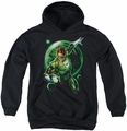 Green Lantern youth teen hoodie Galaxy Glow black