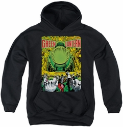 Green Lantern youth teen hoodie Gl #200 Cover black