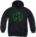 Green Lantern youth teen hoodie Gl Symbol Knockout black