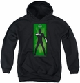 Green Lantern youth teen hoodie Green Lantern Block black