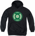 Green Lantern youth teen hoodie Green Symbol black