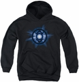 Green Lantern youth teen hoodie Indigo Glow black