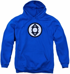 Green Lantern youth teen hoodie Indigo Tribe royal blue