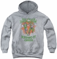 Green Lantern youth teen hoodie Keeping It Green athletic heather