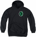 Green Lantern youth teen hoodie Kyle Logo black