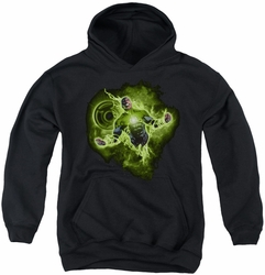 Green Lantern youth teen hoodie Lantern Nebula black