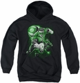 Green Lantern youth teen hoodie Lantern Planet black