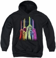 Green Lantern youth teen hoodie Rainbow Corps black