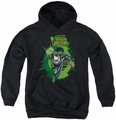 Green Lantern youth teen hoodie Rayner Cover black