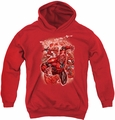 Green Lantern youth teen hoodie Red Lanterns #1 red