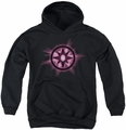 Green Lantern youth teen hoodie Sapphire Glow black