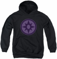 Green Lantern youth teen hoodie Sapphire Symbol black