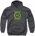 Green Lantern youth teen hoodie Section charcoal