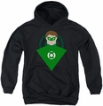 Green Lantern youth teen hoodie Simple Gl black