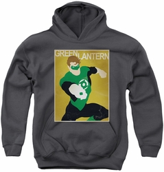 Green Lantern youth teen hoodie Simple Gl Poster charcoal