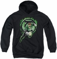 Green Lantern youth teen hoodie Space Cop black