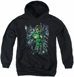 Green Lantern youth teen hoodie Surrounded By Death black