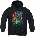 Green Lantern youth teen hoodie The New Guardians black