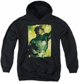 Green Lantern youth teen hoodie Up Up black