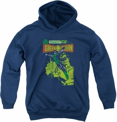 Green Lantern youth teen hoodie Vintage Cover navy