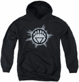Green Lantern youth teen hoodie White Glow black