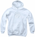 Green Lantern youth teen hoodie White Lantern Logo white