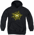 Green Lantern youth teen hoodie Yellow Glow black