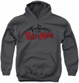 Grim Adventures Of Billy And Mandy youth teen hoodie Grim Logo charcoal