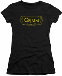 Grimm juniors t-shirt Plaque Logo black