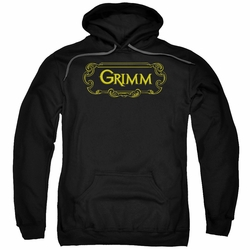 Grimm pull-over hoodie Plaque Logo adult black