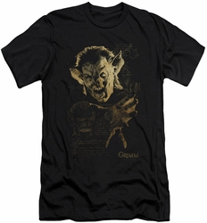 Grimm slim-fit t-shirt Murcielago mens black
