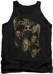 Grimm tank top Wesen mens black