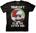 Grumpy Cat Gift in the Litter Box mens t-shirt