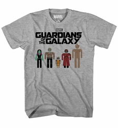 Guardians Of The Galaxy Circle Heads Char Heather T-Shirt