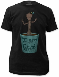 Guardians of the Galaxy dancing groot fitted jersey tee black t-shirt pre-order