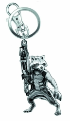 Guardians Of The Galaxy Rocket Raccoon Figural Pewter Keyring pre-order