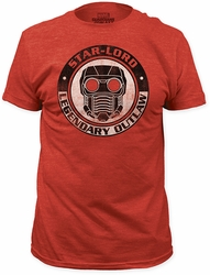 Guardians of the Galaxy star-lord legendary outlaw fitted jersey tee heather red t-shirt pre-order