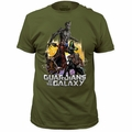 Guardians of the Galaxy t-shirt Battle Ready 30/1 Soft Fitted mens military green