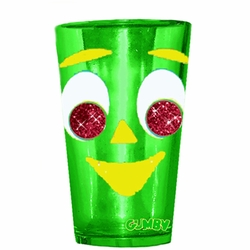 Gumby Glitter Eyes 16 Oz Pub Glass
