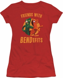 Gumby juniors t-shirt Bendefits red